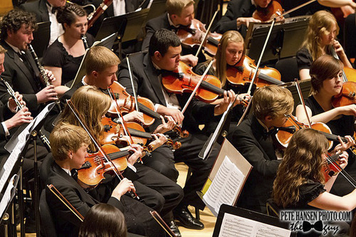 The American Heritage Lyceum Philharmonic performing Beethoven's Symphony No. 9 at Libby Gardner Hall in 2012. (Courtesy Pete Hansen)