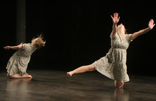 A new dance performance, Daughters of Mudson, will showcase the work of five choreographers, including Leah Nelson and Kitty Sailer, at Rose Wagner Performing Arts Center on June 16-17. (Courtesy photos)