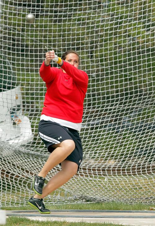 Courtesy University of Utah Amanda Pais is a junior thrower on the University of Utah track team.