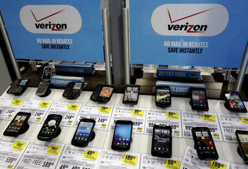 (AP Photo/Paul Sakuma) If you just get one phone, say a smartphone, it will first cost $40 a month for unlimited voice and texting. If you want to get data on top of that, you also have to pay $50 per month for 1 gigabyte of data, $60 for 2 gigs, $70 for 4 gigs, or $10 more for every 2 more gigabytes.