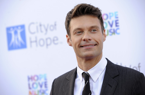 Ryan Seacrest poses at the 2012 Spirit of Life Award Gala on Tuesday June 12, 2012 in Los Angeles.  (Photo by Chris Pizzello/Invision/AP)