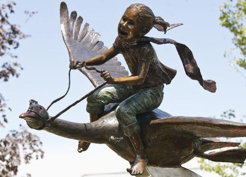 Leah Hogsten     The Salt Lake Tribune One of six bronze statues titled