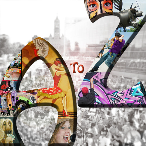 Photo illustration by Francisco Kjolseth  I  The Salt Lake Tribune What's at the Utah Arts Festival?  A little bit of everything, from A to Z. (Background photo used with permission of the Utah Arts Festival; photo by David Newkirk)
