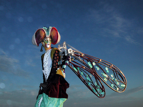 This dragonfly figure is one of the creatures created by the Dragon Knights Stilt Theater, a street-theater performing group that will appear at the 2012 Utah Arts Festival. (Courtesy Utah Arts Festival)