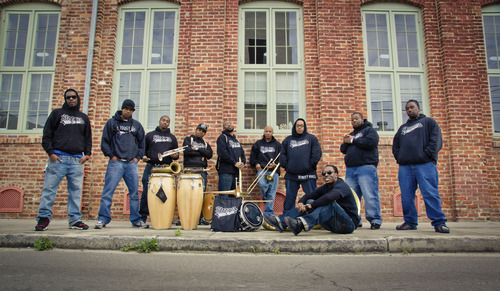 The Stooges Brass Band will play traditional New Orleans jazz with a hip-hop twist -- and will perform a