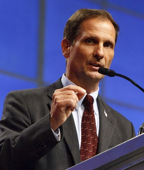 Leah Hogsten  |  Tribune file photo Chris Stewart defeated a crowded field of rivals to capture the GOP nomination in the 2nd Congressional District - but the win wasn't without controversy. Four Republicans who allege he orchestrated a sham candidacy at the state party convention in April have filed a complaint.