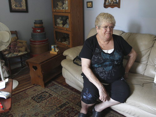 Jamie Germano  |  The Associated Press Karen Klein, 68, of Greece, N.Y., talks about the verbal abuse she endured from middle school students while she was school bus monitor. Since the incident was captured in a 10-minute video posted to YouTube, hundreds of thousands of dollars has been raised to send the grandmother on vacation.