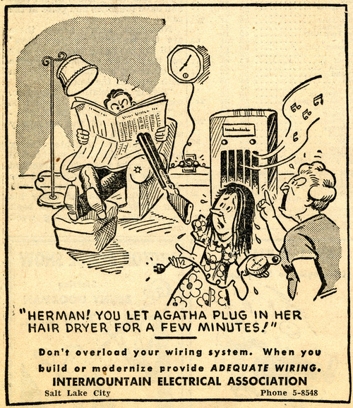 Intermountain Electrical Association ad. March 10, 1947