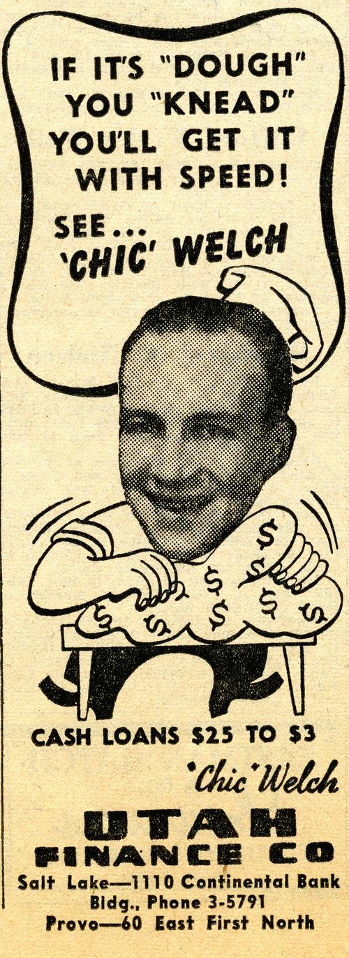 Utah Finance Co. ad. June 20, 1947