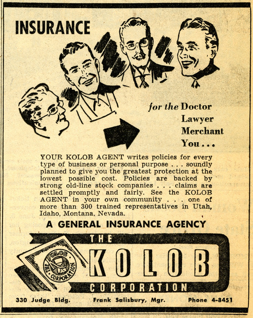 The Kolob Corporation ad. May 17, 1948