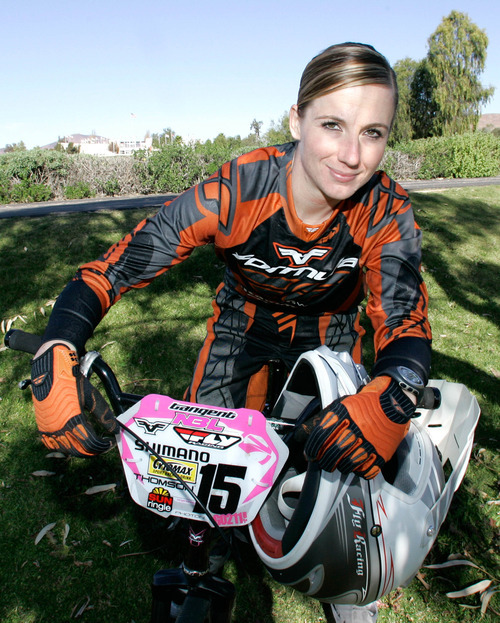 Arielle Martin at the Olympic Training Center in Chula Vista, Calif. Thursday  Jan. 17, 2008 in San Diego.  (AP Photo/Lenny Ignelzi)