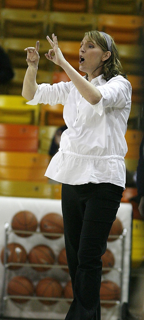 Tribune file photo Utah State's Women's Basketball Coach Raegan Pebley.