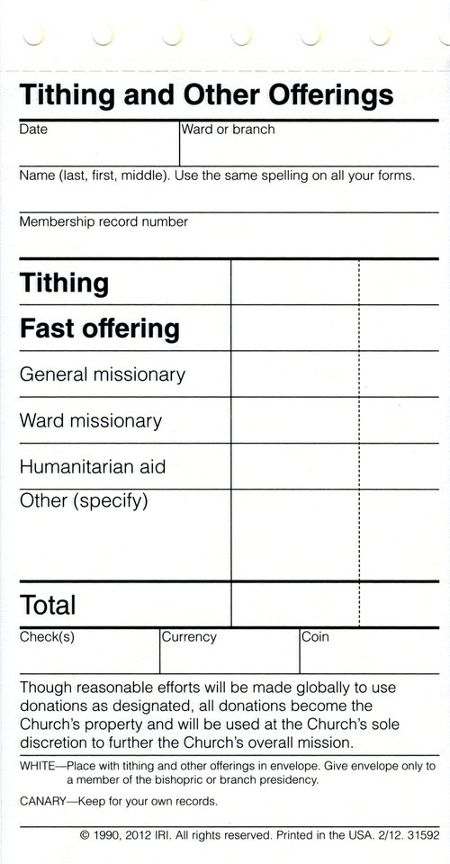 next time mormons pay tithing they may notice something new the
