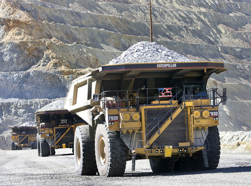 Al Hartmann  |  The Salt Lake Tribune The additional spending at the Bingham Canyon mine will allow average annual production of 180,000 metric tons of copper, 185,000 ounces of gold and 13,800 tons of molybdenum from 2019 to 2029, Rio Tinto.
