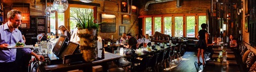 Trent Nelson     The Salt Lake Tribune A menu emphasizing game meat and seafood also pays homage to locally produced items at Pallet in Salt Lake City, an impressively designed restaurantwhere the impressive ambience currently outshines the food.