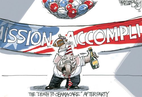 This Pat Bagley editorial cartoon appears on Friday, June 29, 2012.
