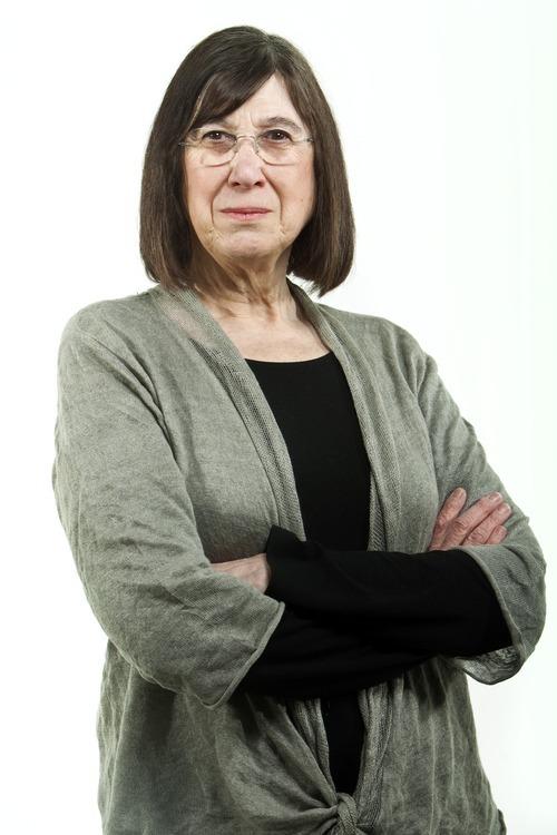 Chris Detrick  |  The Salt Lake Tribune Eileen Hallet Stone poses for a portrait in the Tribune studio Thursday March 8, 2012.