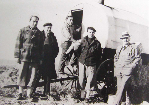 Basque sheep herders in Idaho in 1938.  Photo courtesy of The Basque Museum and Cultural Center