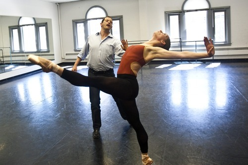 Chris Detrick  |  The Salt Lake Tribune  Ballet West Artistic Director Adam Sklute works with a dancer during a rehearsal in 2010.
