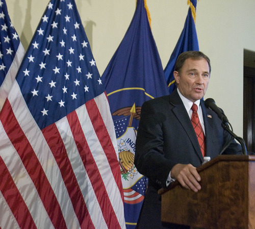 Paul Fraughton | Salt Lake Tribune Gov. Gary Herbert has ordered the state forester to work with counties in deciding where target shooting should be restricted, because of the fire danger. Monday, July 2, 2012.