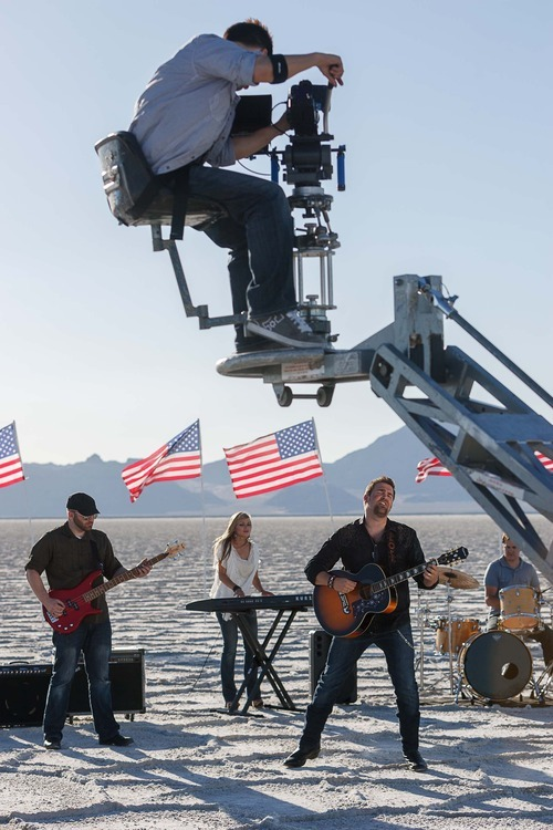 Trent Nelson  |  The Salt Lake Tribune Nathan Osmond on the set of a video shoot for his song