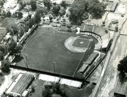 Tribune file photo An aerial view of Derks Field is seen in 1952.