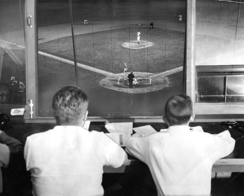Tribune file photo A view from Derks Field's press box is seen in 1950.