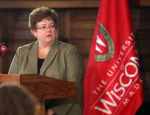 FILE -- In a June 14, 2011 file photo University of Wisconsin-Madison chancellor Carolyn