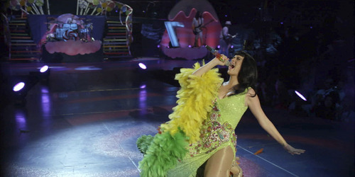 Pop star Katy Perry belts out