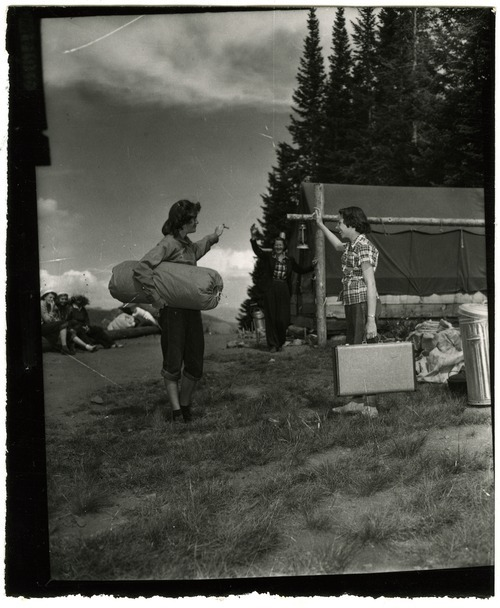 Tribune file photo  Girl Scouts at Utah's Camp Cloud Rim, summer 1950.