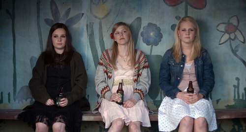 Sara (Malin Bjorhovde, left), Alma (Helene Bergsholm, center) and Ingrid (Beate Stofring) are teens navigating puberty in the Norwegian comedy