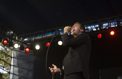 Kim Raff | The Salt Lake Tribune Hamilton  Leithauser of The Walkmen performs during opening night of the Twilight Concert Series at Pioneer Park in Salt Lake City on July 5, 2012. In previous years the concerts have been free and open to the public, but due to crowd size this is the first year they are charging $5 for admission.