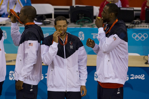 Tribune file photo Former Utah Jazz star Deron Williams, center, is ready to help Team USA defend the Olympic gold medal it won in 2008.