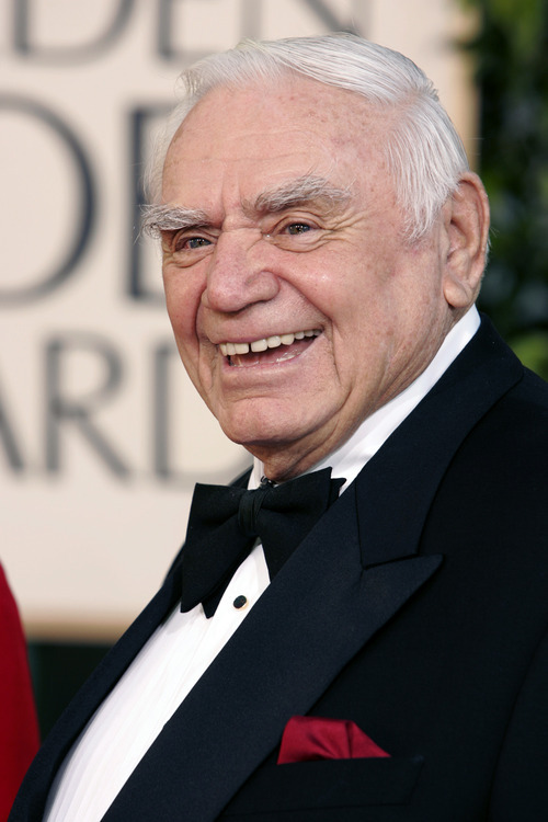FILE - In this Jan. 16, 2005, file photo, actor Ernest Borgnine arrives for the 62nd Annual Golden Globe Awards,  in Beverly Hills, Calif.  A spokesman said Sunday, July 8, 2012, that Borgnine has died at the age of 95. (AP Photo/Mark J. Terrill, File)