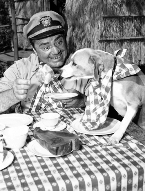 FILE - In this April 4, 1963, file photo, Ernest Borgnine acts in a scene for ABC-TV's