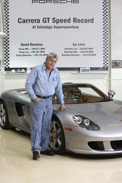 Courtesy photo Jay Leno and his Porsche.