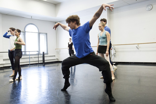 Chris Detrick     The Salt Lake Tribune Ballet West II director Christopher Ruud works with dancers as they rehearse