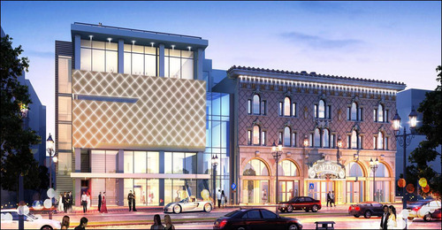 Salt Lake County officials heaped praised on the design of a renovated Capitol Theatre and a new building housing Ballet West and its dance academy. The county and the ballet are jointly funding the $33.4 million project.  Rendering courtesy of Salt Lake County Center for the Arts