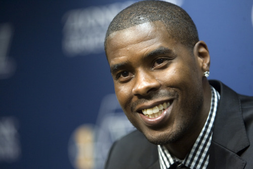 Kim Raff | The Salt Lake Tribune The Utah Jazz introduce their new trade acquisition Marvin Williams during a press conference July 12, 2012.