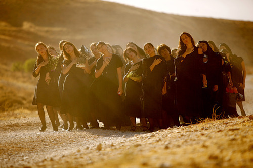 Women march -- and dance -- to the cemetery in a scene from Nadine Labaki's musical comedy-drama