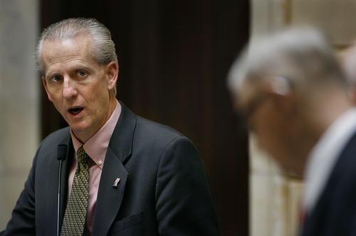 Scott Sommerdorf     Tribune File Photo Senator Wayne Niederhauser, R-Sandy, is ALEC's Utah chairman.