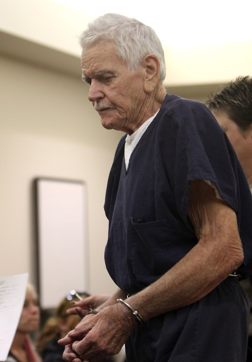 Rick Egan  | The Salt Lake Tribune   Charles Edward Dodd appeared in the Eighth District Court, in Duchesne, Thursday, October 13, 2011.  Dodd, 75, is charged with first-degree murder for the death of his ill wife. He allegedly tried to commit suicide after killing her.