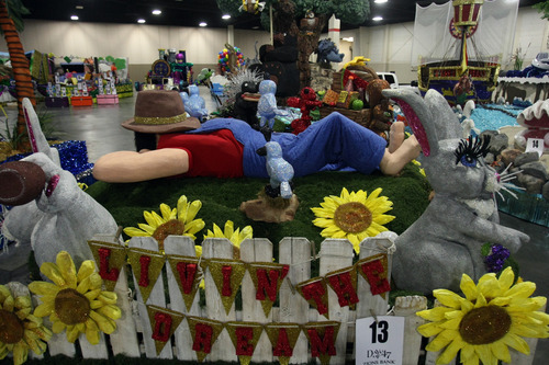 Chris Detrick  |  The Salt Lake Tribune Days of '47 Parade floats on display at the South Towne Expo Center in Sandy Saturday July 14, 2012.