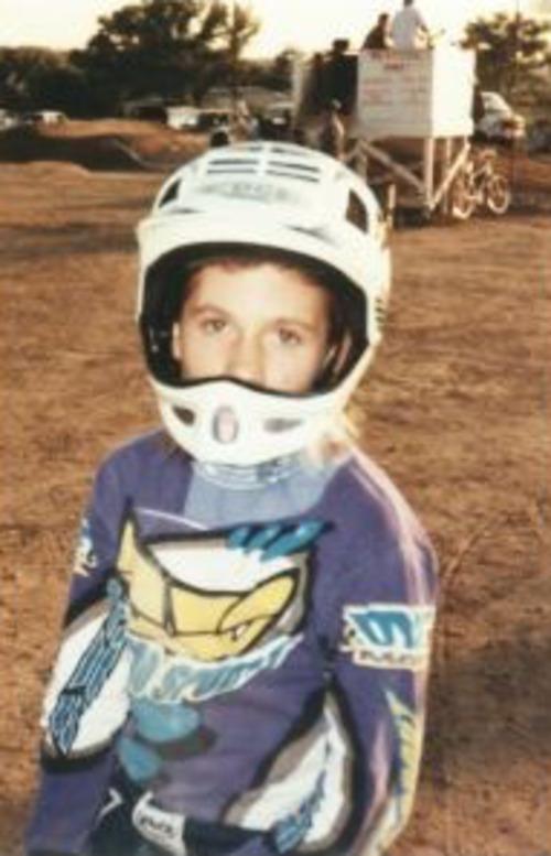 Courtesy photo Olympic BMX biker Arielle Martin at age 7.