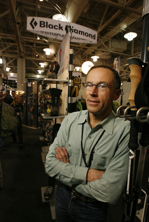 Scott Sommerdorf  |  Salt Lake Tribune Peter Metcalf, CEO and president of Utah-based Black Diamond Equipment, shown here at an Outdoor Retailer show, has stepped down from a state working group.