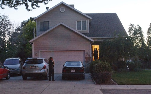 Leah Hogsten  |  The Salt Lake Tribune A 2-year-old Colorado boy accidentally shot himself in the head Monday at this Sandy home after somehow getting hold of his grandfather's handgun. He later died. The boy, from the Denver area, had traveled to Sandy with his family to visit his grandparents, said police Sgt. Jon Arnold. Police were called to the scene at 7:10 p.m., Arnold said. The child somehow got hold of a 9 mm handgun and shot himself in the master bedroom of his grandparents' home.