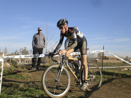 Tyler Wren, here racing cyclocross for Boo Bicycles in the 2011, lives in Salt Lake City. Photo courtesy of Mary Topping.