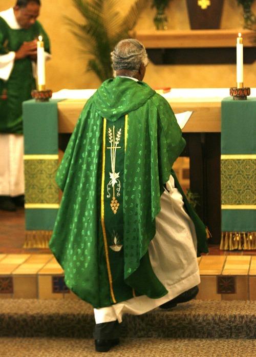 Rick Egan    The Salt Lake Tribune    Father Lourduraj Gally Gregory at St. Patrick Catholic Church, Saturday, July 7, 2012.