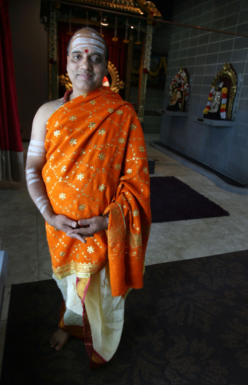 Steve Griffin   The Salt Lake Tribune   Priest A.R. Krishnan at the Sri Ganesha Hindu Temple of Utah in South Jordan on Friday July 6, 2012.