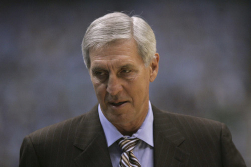 Tribune file photo Former Utah Jazz coach Jerry Sloan, seen here in a 2007 photo, interviewed for a head coaching job with Portland but has withdrawn his name from consideration.